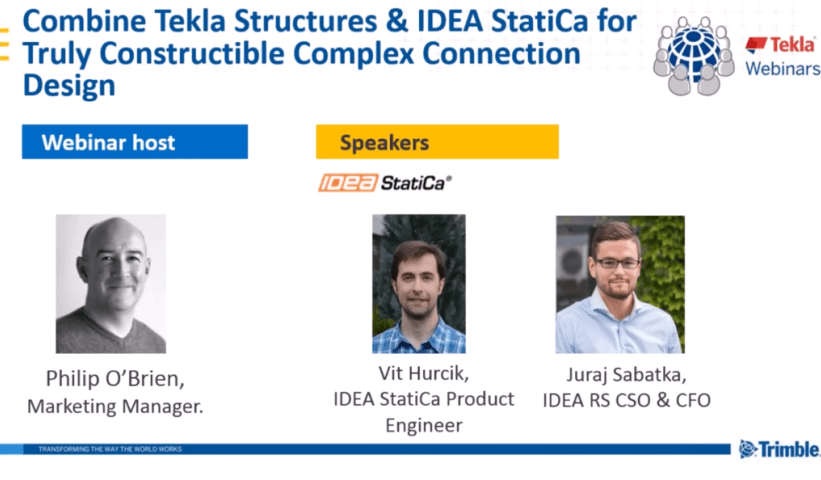 Video ieraksts webināram: Combine Tekla Structures and IDEA StatiCa